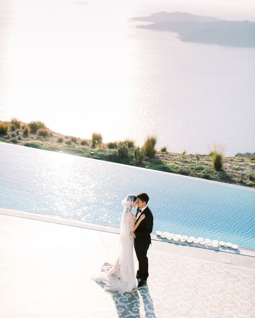 """""""EROSANTORINI offered unobstructed views of the Aegean Sea during the breathtaking party..."""""""
